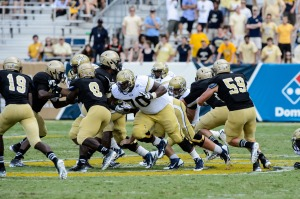 Georgia Tech senior offensive guard Shaq Mason (70)Photo credit: Danny Karnik