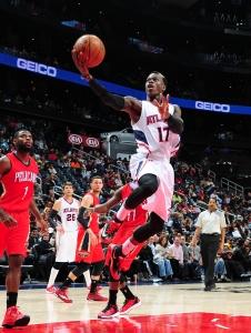 Atlanta Hawks' guard Dennis Schroder (17)Photo credit: Scott Cunningham/NBAE via Getty Images