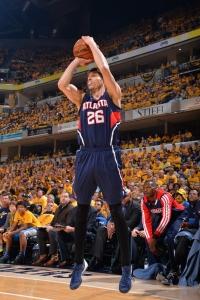 Atlanta Hawks' guard Kyle KorverPhoto credit: Jesse D. Garrabrant – NBAE/Getty Images