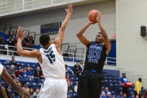 Georgia State forward Markus Crider (right)Photo credit: Georgia State Athletics