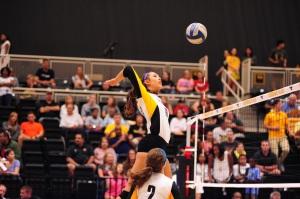 Kennesaw State volleyball middle Liesl EngelbrechtPhoto credit: Kennesaw State Athletics / Greg Ranallo