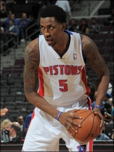 Detroit Pistons' guard Kentavious Caldwell-PopePhoto credit: Allen Einstein (NBAE/Getty)