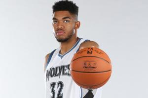 Minnesota Timberwolves center Karl-Anthony TownsPhoto credit: David Sherman/Getty Images