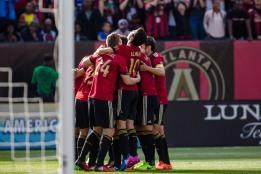 Atlanta United team celebration